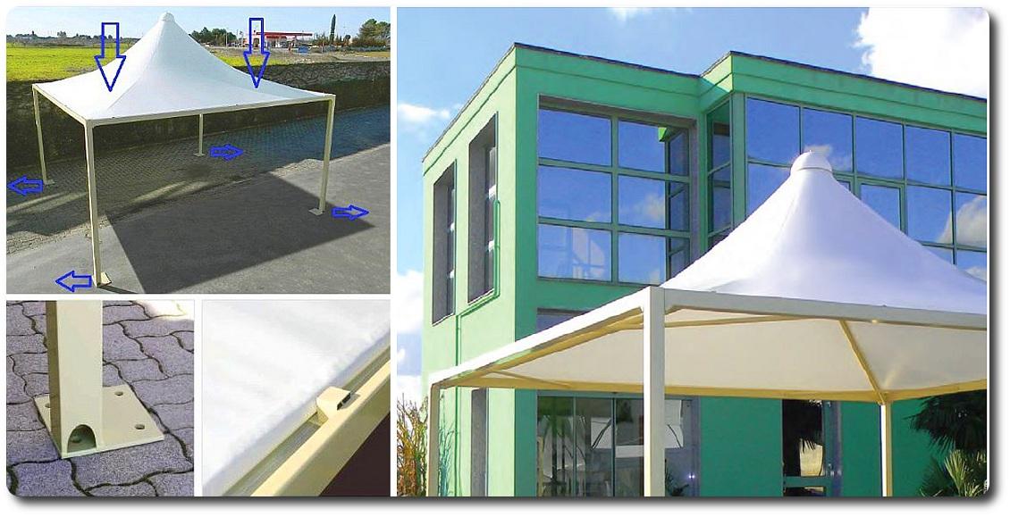 Pavillon Pagodenzelte profizelt Gartenzelt Benutzerdefiniert Personalisiert Carport Terrassendach  Faltpergola PVC PROFI Personalisiert Benutzerdefiniert_farbe_FRAME