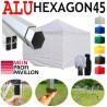 Faltpavillon 3x3m ALU EXA45 mit Seitenteile
