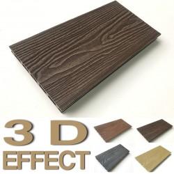 WPC Terrassendielen 3D  2200x146x25mm -  Chocolate