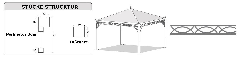 Pavillon Pagodenzelte profizelt Gartenzelt Benutzerdefiniert Personalisiert Carport Terrassendach  Faltpergola PVC PROFI Personalisiert Benutzerdefiniert