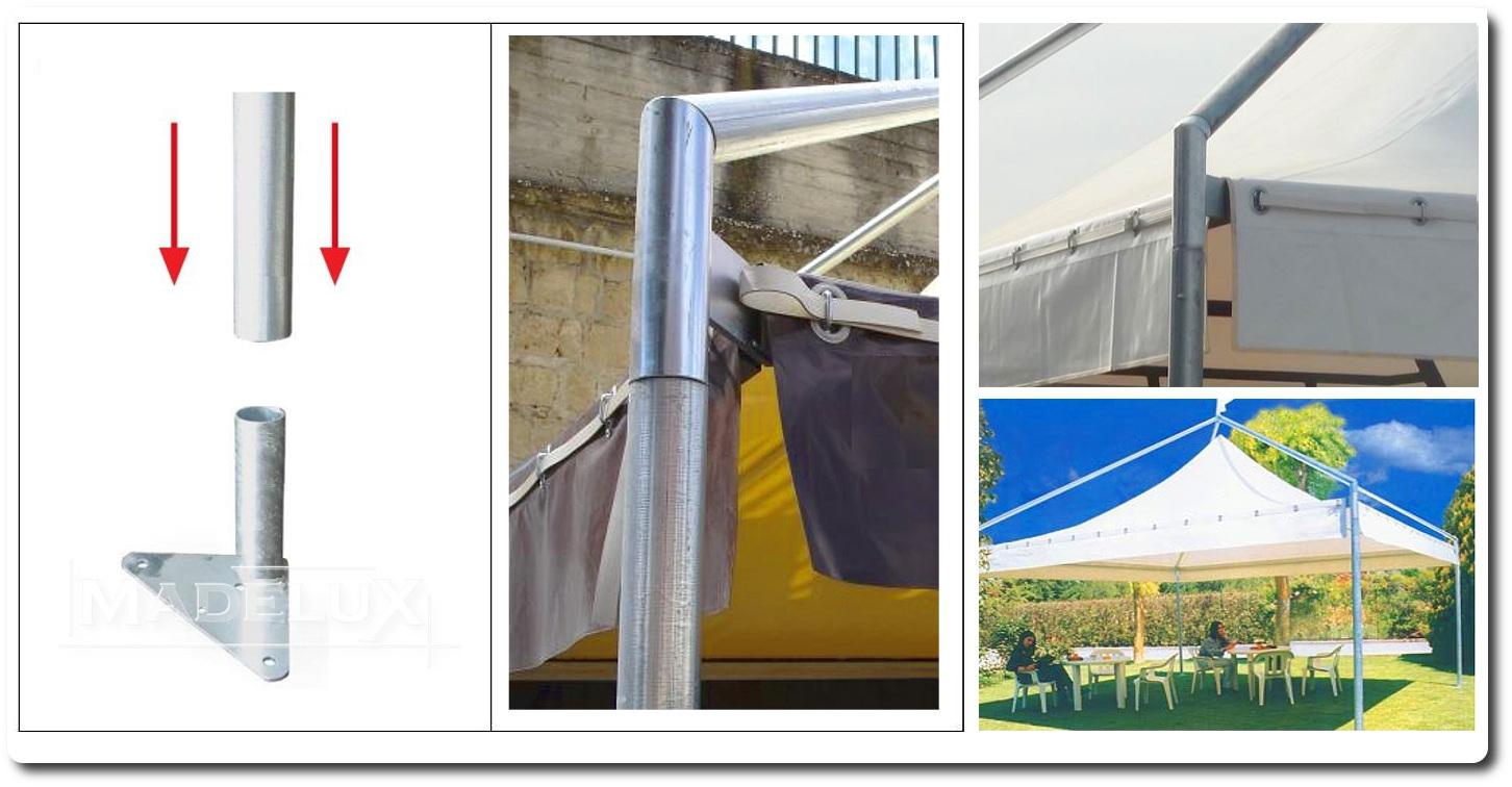 Pavillon Pagodenzelte profizelt Gartenzelt Benutzerdefiniert Personalisiert Carport Terrassendach  Faltpergola PVC PROFI Personalisiert Benutzerdefiniert_farbe